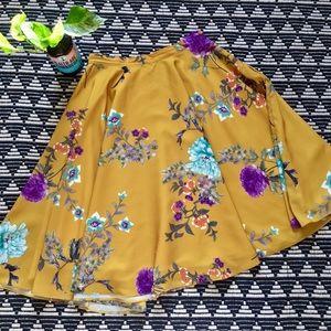 """""""Ikebana for All"""" Midi Skirt"""